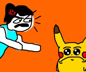 Trainer enraged over pikachu