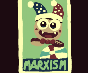 Marxism mascot is super cute - with fangs.