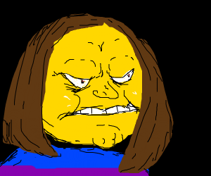 frisk turns into an angory boi