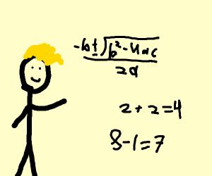 A guy loves mathematics