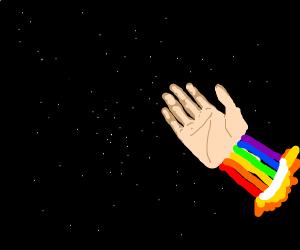 hand thing in shooting stars meme