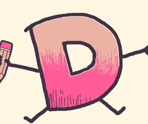 Drawception mascot but pink