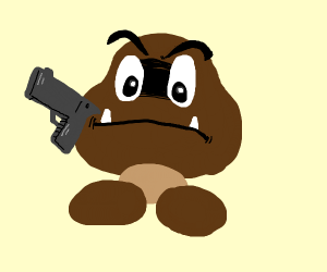 goomba with gun