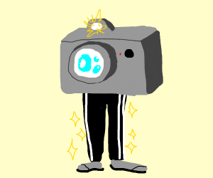 Camera wearing Pants