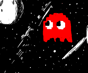 Pac-Man ghost in space