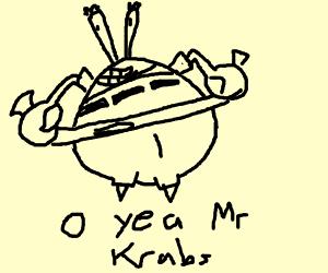 Mr Krabs loves money