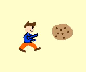 A Boi Running After A Cookie