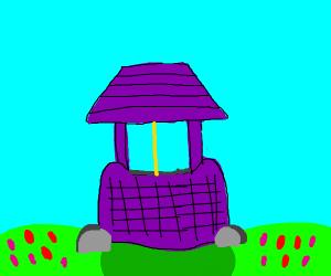 Purple wishing well