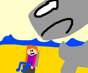 disabled girl about to be crushed by whale