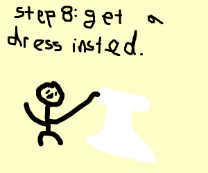 Step 7: Get rid of that suit as well.