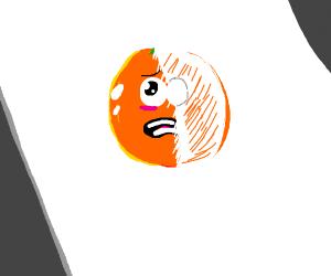 Unfinished orange