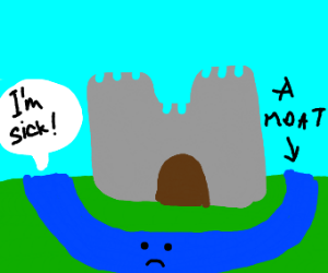 castle with a sick moat