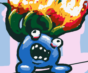 Oddish is on fire