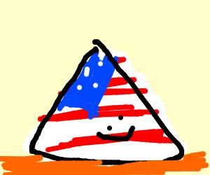 american flag pyramid