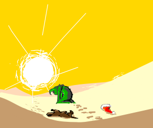 The grinch got lost in the desert