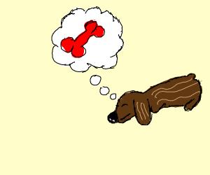 dog dreaming of a red bone