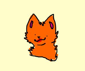 Cat wearing red lipstick