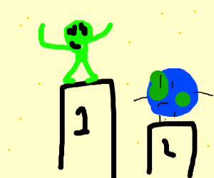 Aliens came in first place. Earth second