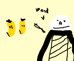 Voldemort Conjuring bananas