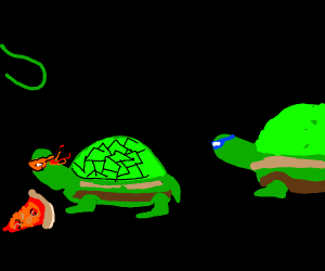 ninja turtles but they're real turtles