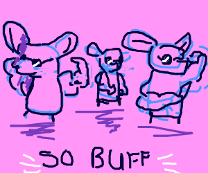 Three Buff Blind Mice