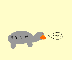 robot turtle named aron eats the soul stone