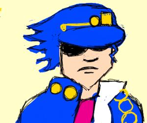 Jotaro seems rather upset.
