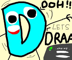 Drawception Logo high on cocaine