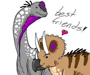 Brachiosaurus and triceratops are friends