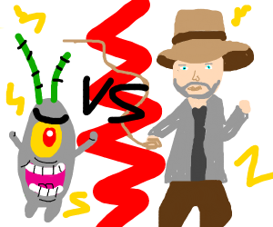 Dr Indiana Jones vs Plankton