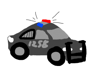Police car is on the way