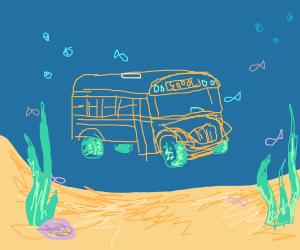 a school bus, but an underwater school bus