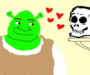 shrek in love with a skull