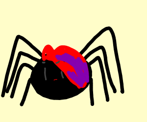 Edgy spider dude with purple highlights