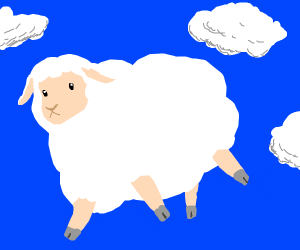 Cloud-like sheep