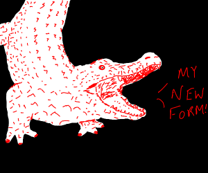 THIS IS MY NEW FORM SAYS RED CROCODILE