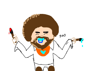 Baby Bob Ross, 'Fro and all