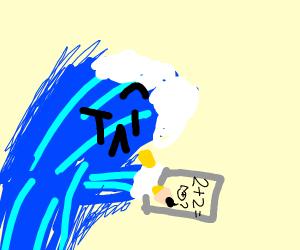 A wave doing math