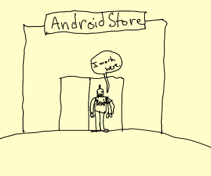 android store has an android employee