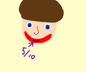 5/10 smile