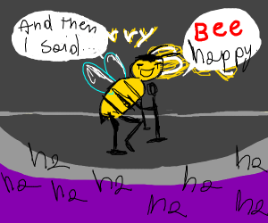 barry B benson doing stand up comedy