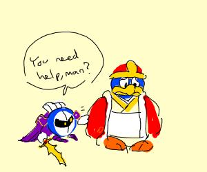 meta knight asking if king dedede needs help