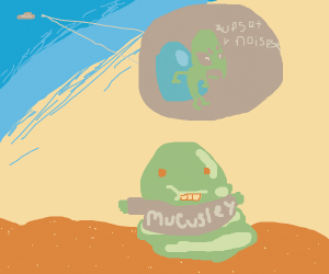 Alien upset at Mucusley in UFO
