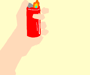dude playing with lighter