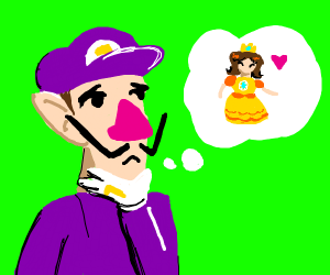 waluigi thinks about person