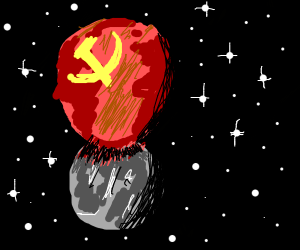 Communist planet on the moon