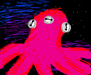 Three-eyed space Octopus