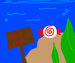 free candy under the sea