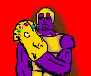 Thanos gold armor
