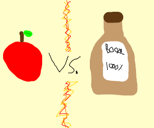 Apple Vs. Booze! FIGHT